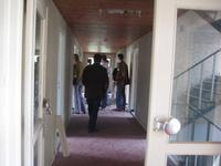 in flat A, 1e etage, de gang aan Schondeln-zijde