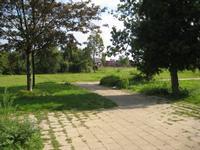 zicht op het spoor achter het Schoolpad