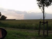 Vanuit Workum richting IJsselmeer...